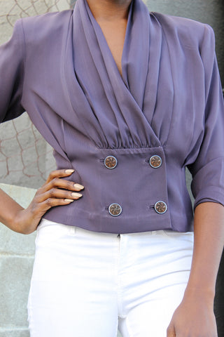 VIOLET HUES LOW RISE BLOUSE