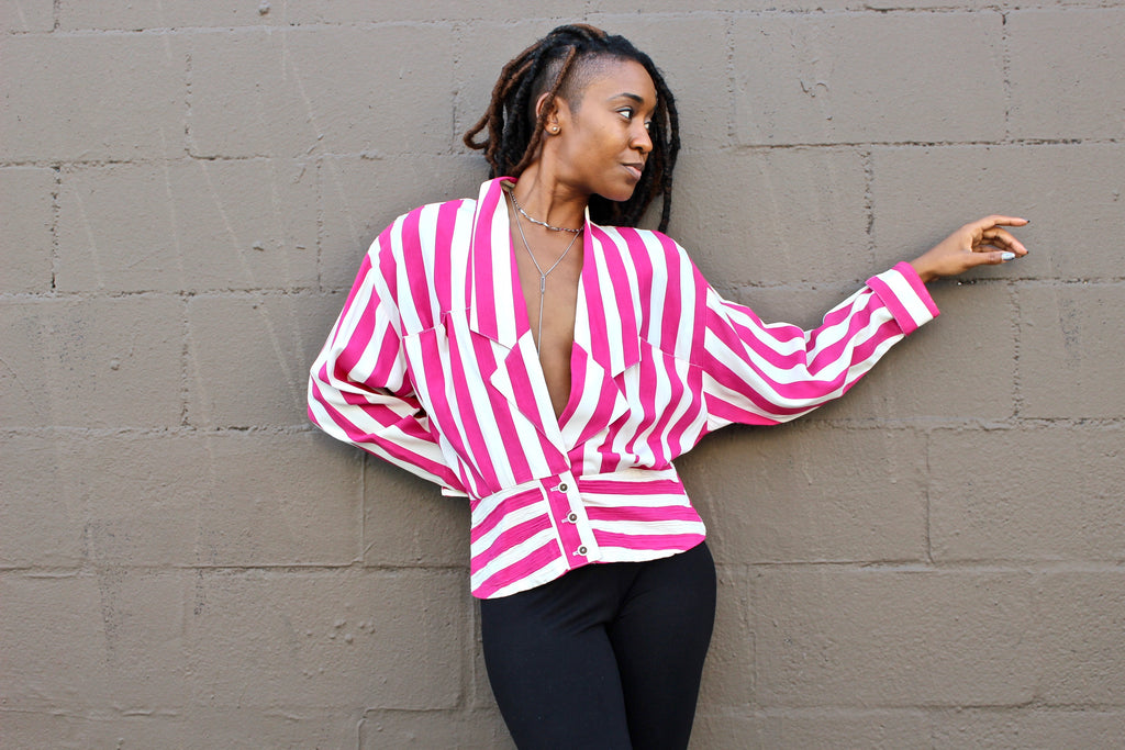 BETWEEN THE PINK STRIPES VINTAGE JACKET