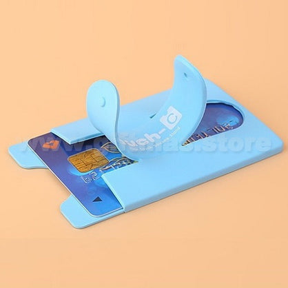 Silicone Smart Phone Card Holder & Stand