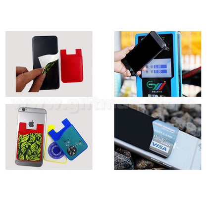 Smart Phone Card Holder with removable Screen Cleaner