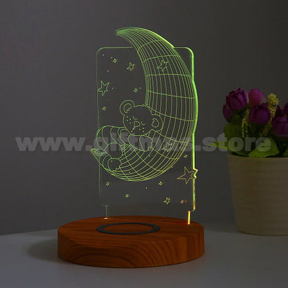 Wireless Charger 3D Light-up Phone holder