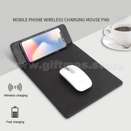 Wireless Charger Mouse Pad - 1 folded as phone stand