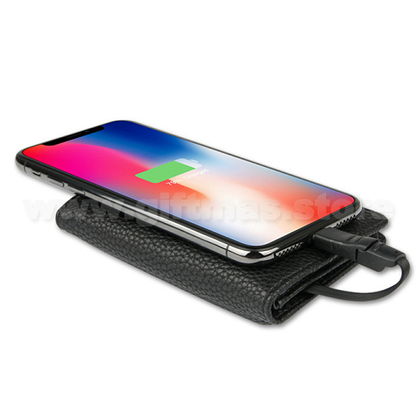 Power Bank Charger Leather Card holder