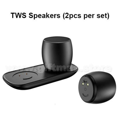 TWS Wireless Speakers with Charger Base (1 pair)