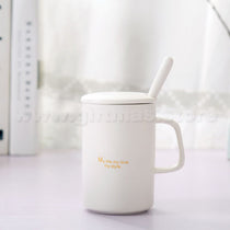 Coffee Mug with Lid & Tea-spoon