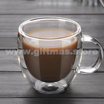 Double Wall Coffee Glass Mug