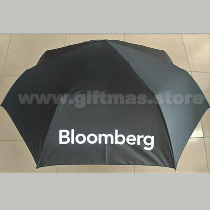 Bloomberg Mini Umbrella with foldable zip pouch
