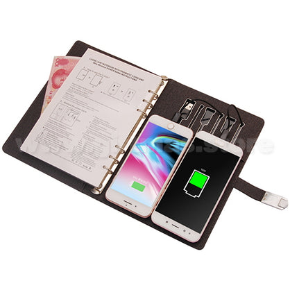 Multifunctional Notebook (with Wireless Powerbank & USB flash drive)