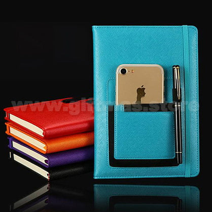 A5 PU Notebook (with phone pouch on cover)