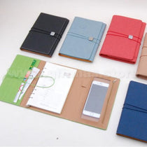 3 Folded A5 Notebook (with phone pouch inside)