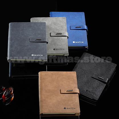 Leather A5 Notebook (with Magnetic buckle closure)