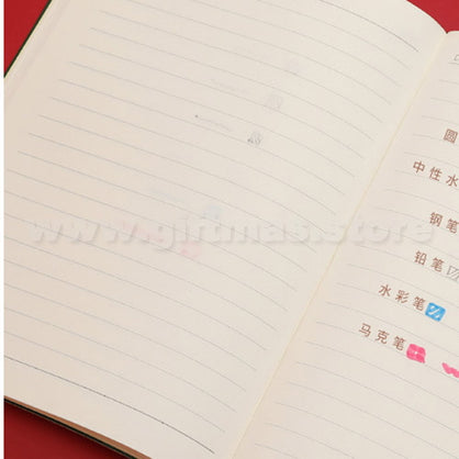 A5 Double-Layer Soft PU Leather Notebook