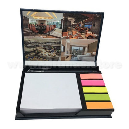 Memo Notepad & Coloured Index with hard cover