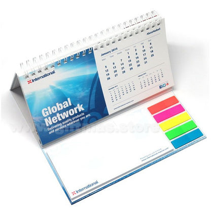 Desktop Calendar with Sticky Notepad