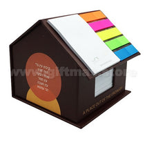Memo Notepad with House Box