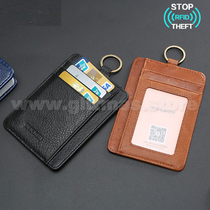 RFID Leather Card Holder with Keyring