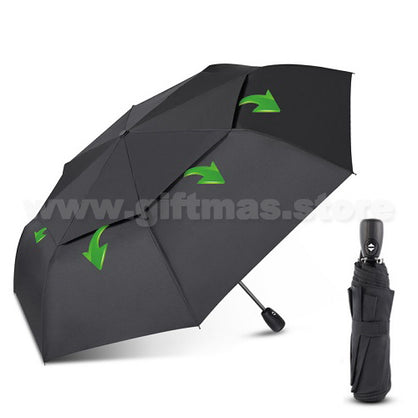 "3-Folded Mini Umbrella (21"" - Windproof - Vented Double Canopy)"