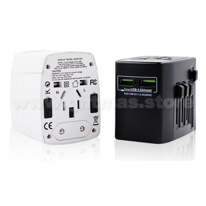 Universal Travel Adaptor (with 2 USB ports)