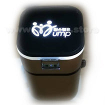 Universal Travel Adaptor (with 2 USB ports & Light-Up Logo)