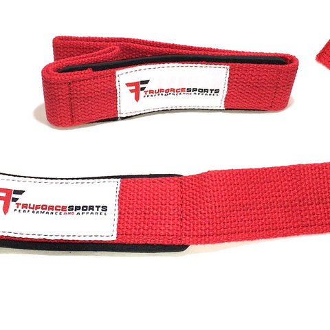 TFS Padded Lifting straps.  Black or Red