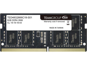 TeamGroup Elite 8GB 260-Pin DDR4 SO-DIMM DDR4 2666 TED48G2666C19-S01
