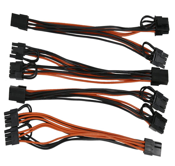 18AWG PCI-E 6pin to Dual 8-pin Y-Splitter Extension Cable GPU Mining