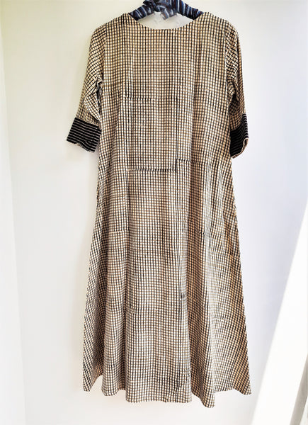 Checkered A line dress
