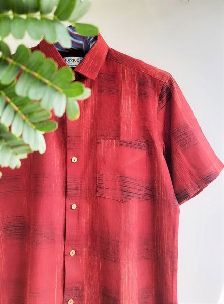 Madder hand spun men's shirt