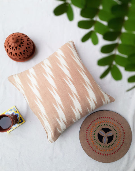 Ikat cotton cushion cover