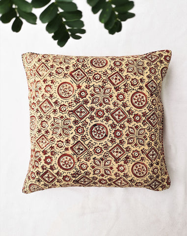 Ajrakh cotton cushion cover
