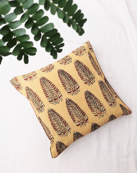 Asopalav ajrakh cotton cushion cover
