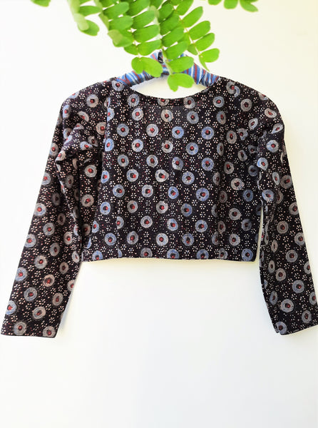Black ajrakh blouse