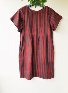 Striped hand spun shift dress