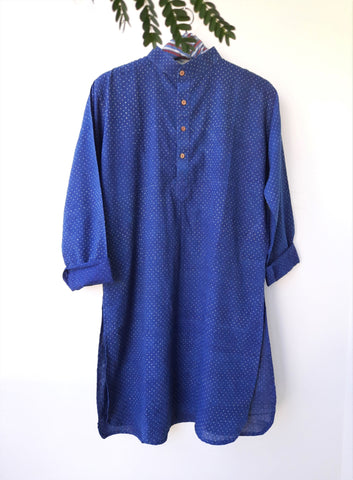Indigo men's kurta