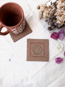Natural cork tea coasters, Handmade cork tea coasters, Sustainable cork tea coasters, Vegan leather cork tea coasters, Organic eco friendly tea coasters