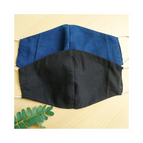 Set of 2 - Indigo and Black Facemasks