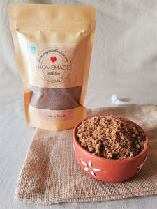 Organic jaggery powder, homemade jaggery powder, jaggery powder