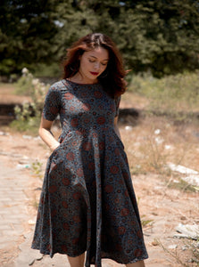 Indigo ajrakh dress