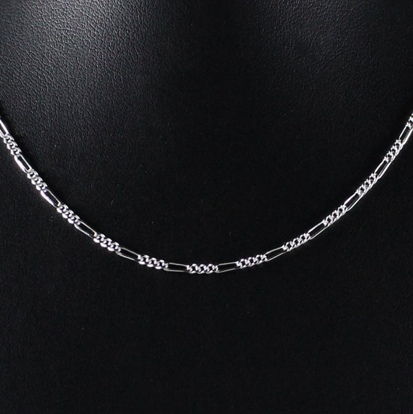 Chain 1.6mm Figaro Link in 925 Sterling Silver