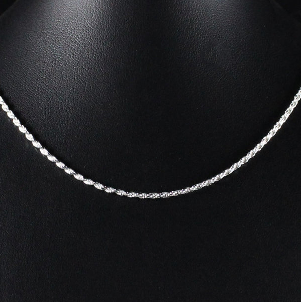 Chain 1.7mm Rope Link in 925 Sterling Silver