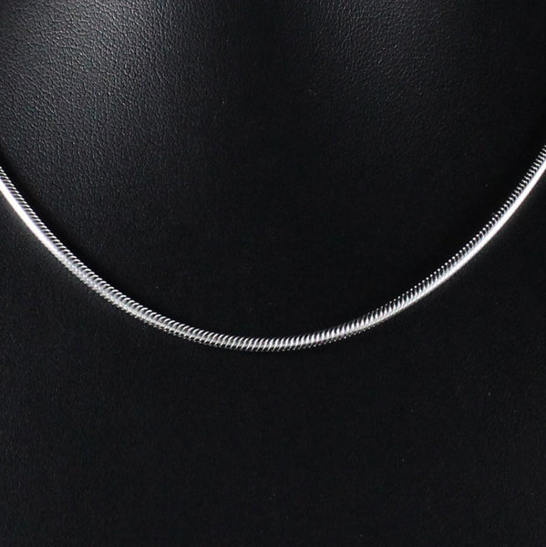 Chain 1.8mm Snake Link in 925 Sterling Silver