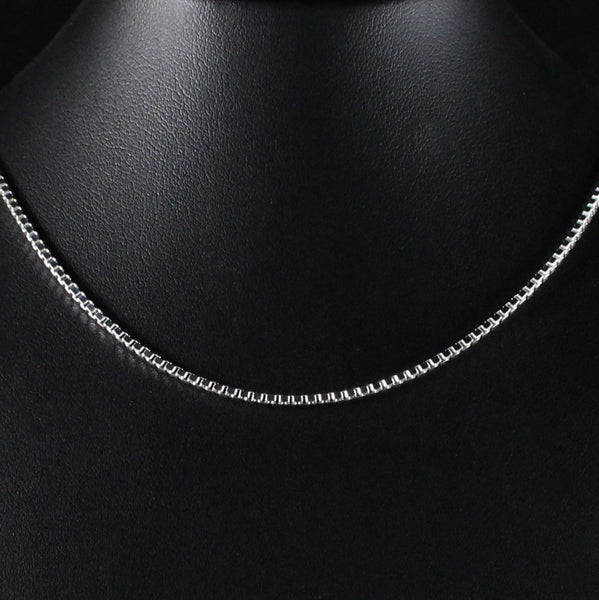 Chain 1.9mm Box Link in 925 Sterling Silver
