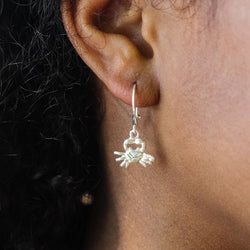 Caribbean Crab Cancer Short Earring in 925 Sterling Silver