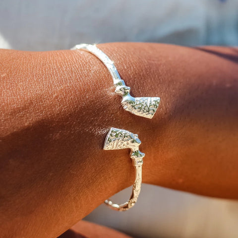 110 West Indian Bangle with Nefertiti Egyptian Head Diamante Pattern Handmade in 925 Sterling Silver