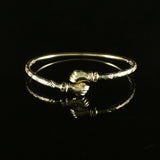 110 West Indian Bangle with Fists Calypso Pattern Handmade in 10 Karat Yellow Gold