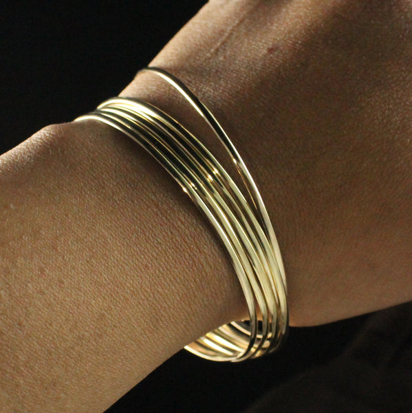 Flat West Indian Plain Jingle Handmade in 10K Gold - SOLD INDIVIDUALLY