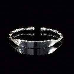 Engravable 110 West Indian Bangle with Solid Ball Handmade in 925 Sterling Silver