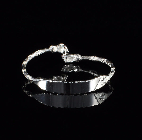 Engravable 110 West Indian Bangle with Fists Handmade in 925 Sterling Silver