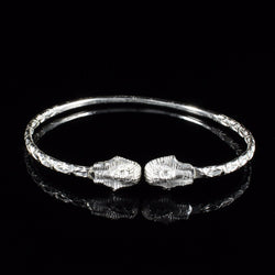 110 West Indian Bangle with Sphinx Calypso Pattern Handmade in 925 Sterling Silver
