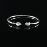 150 West Indian Bangle with Cocoa Pods Plain Bangle Handmade in 925 Sterling Silver